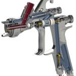 ANEST IWATA Profi-Lackierpistole LPH-400 classic plus - Funktionelle Beschichtung im Niederdruckverfahren LVLP