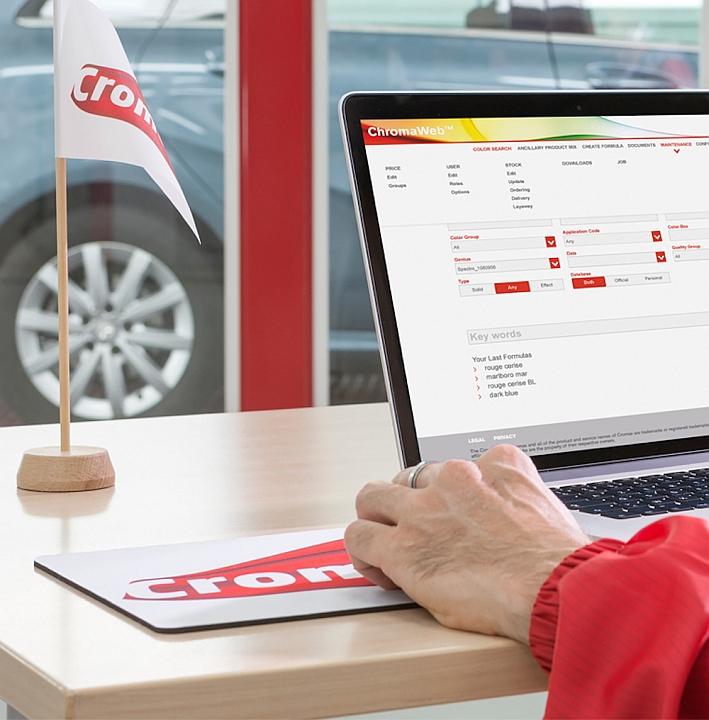 Die Cromax® Farbtonmanagement-Software Der